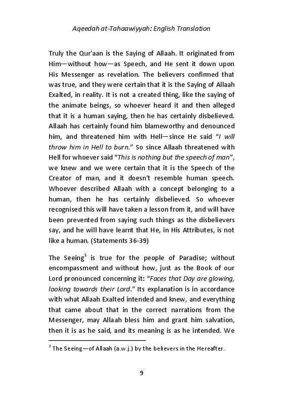 Aqeedah at-Tahaawiyyah - English Translation_page_0009