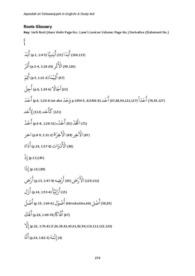 Aqeedah at-Tahaawiyyah in English - A Study Aid_page_0276